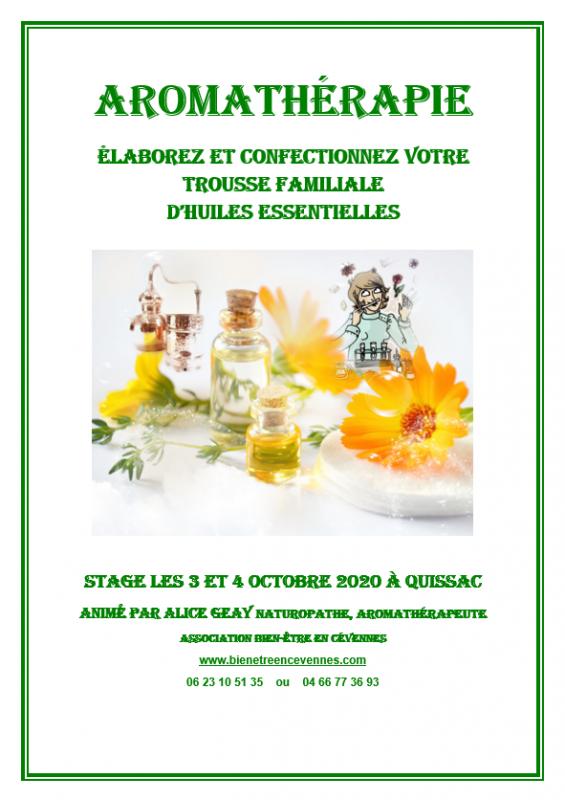 Affiche aromatherapie alice 2