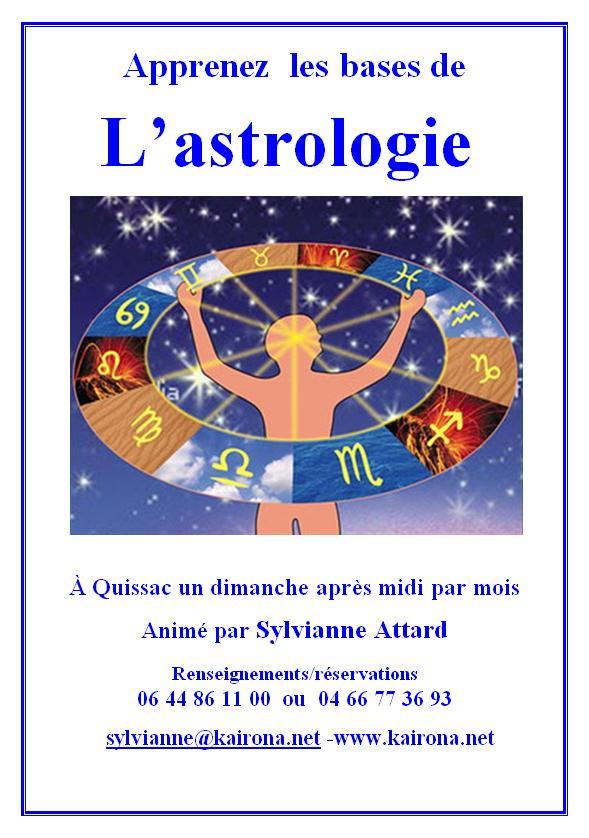 Affiche astrologie sylvianna attard