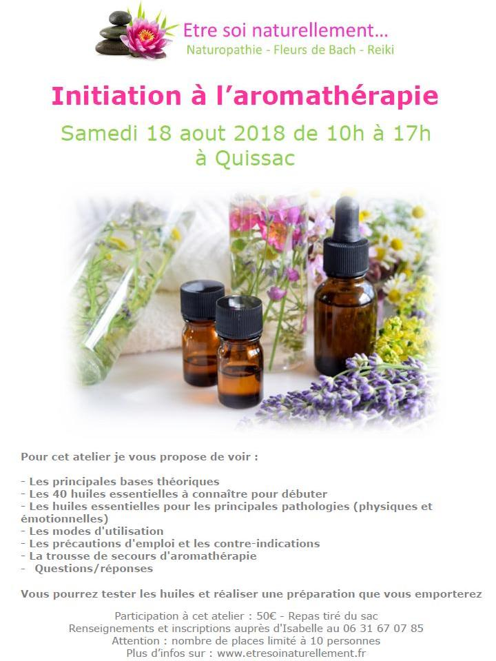 Affiche initiation aromatherapie