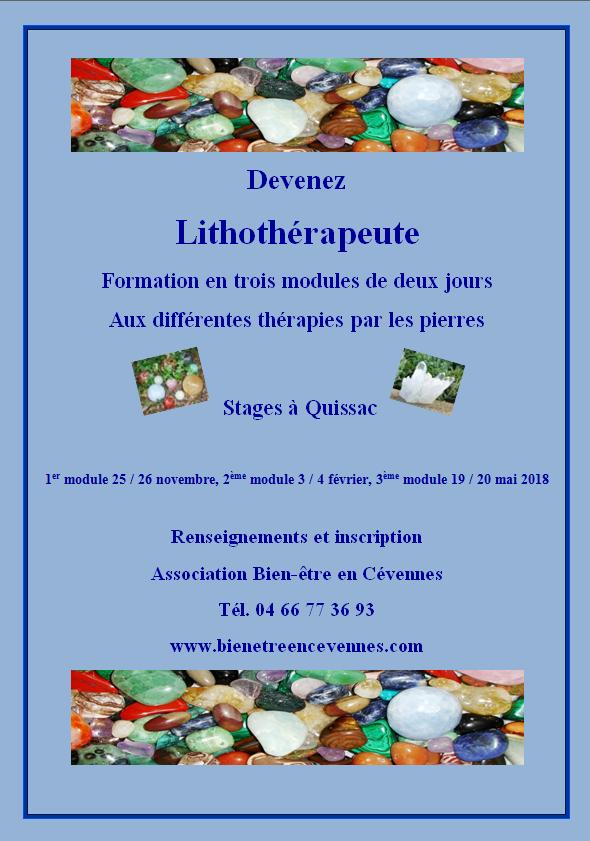 Affiche lithotherapeute 2016 2017