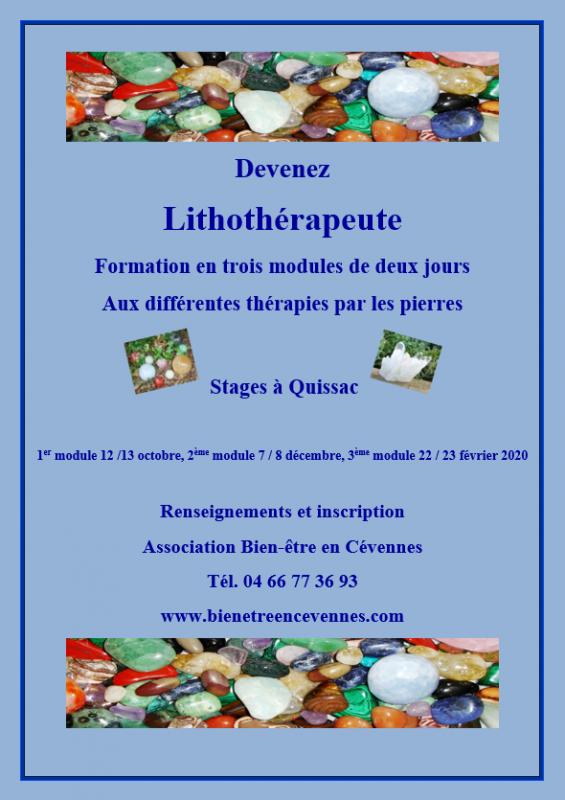 Affiche lithotherapie 2019 2020