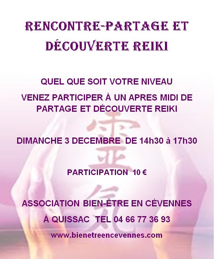 Affiche rencontre partage reiki decembre 2017