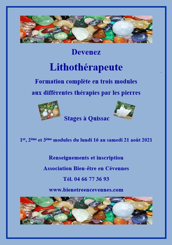 Lithotherapie aout 2021
