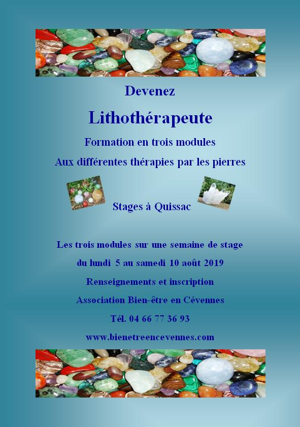 Lithotherapie stage d ete