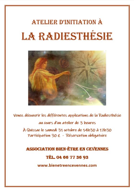 Radiesthesie affiche octobre 2020